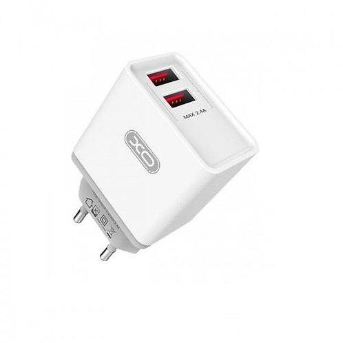 Зарядно/Адаптор 220V XO-L31 2.4A 2 USB Quick Charger