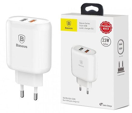 Baseus Bojure Адаптер Quick Charge 220V 23W MAX / 2USB / CCALL-AG02
