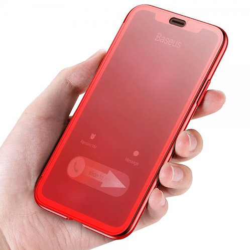 Калъф тефтер BASEUS Touchable case /Червен/ за iPhone X / XS 5.8'