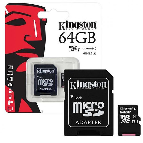 Kingston Memory MicroSD Card 64GB c адаптер UHS-I /CLASS 10/