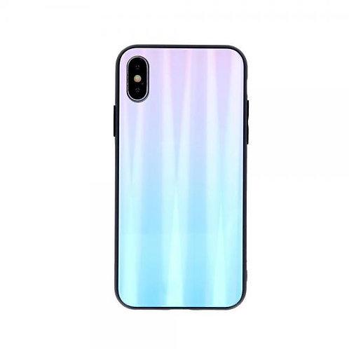 Калъф Aurora Glass Case /Розов-Син/ за iPhone 7G / 8G / SE (2020)