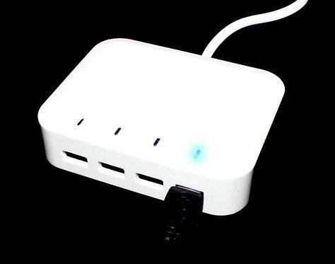 Зарядна Станция 4в1 за USB / Multi Charger за 4 телефона едновременно