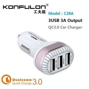 12V Зарядно за автомобил Konfulon C28A 3A / 3USB /