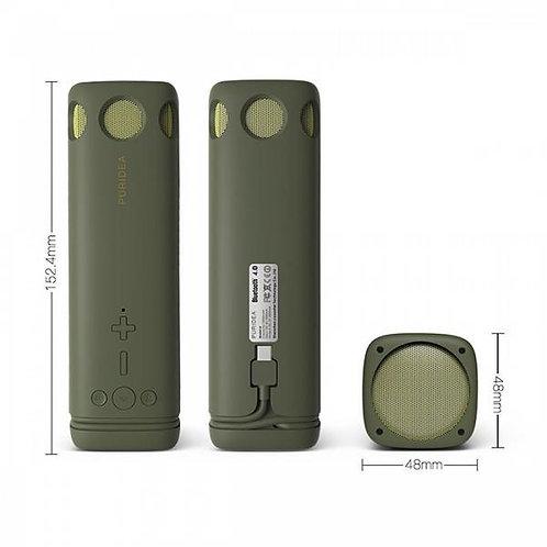 Power bank PURIDEA i2 8000mAh + Bluetooth Говорител / Зелен /