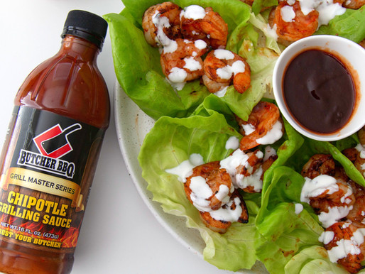 Firecracker Chipotle Shrimp Lettuce Wraps
