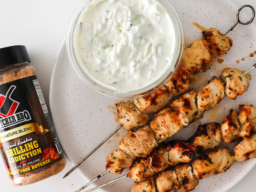 Grilled Chicken Skewers With Tzatziki