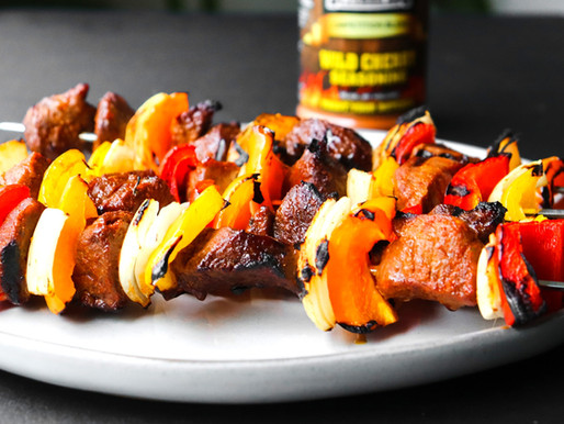 Grilled & Smoked Cherry Beef Kabobs