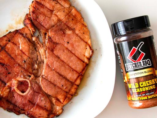 Grilled Cherry Honey Mustard Ham Steak