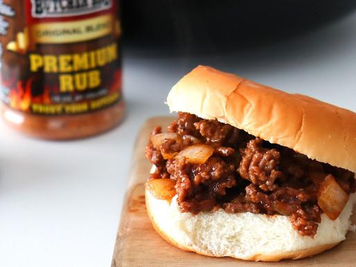 Sloppy Joe Style BBQ Beef Sandwich