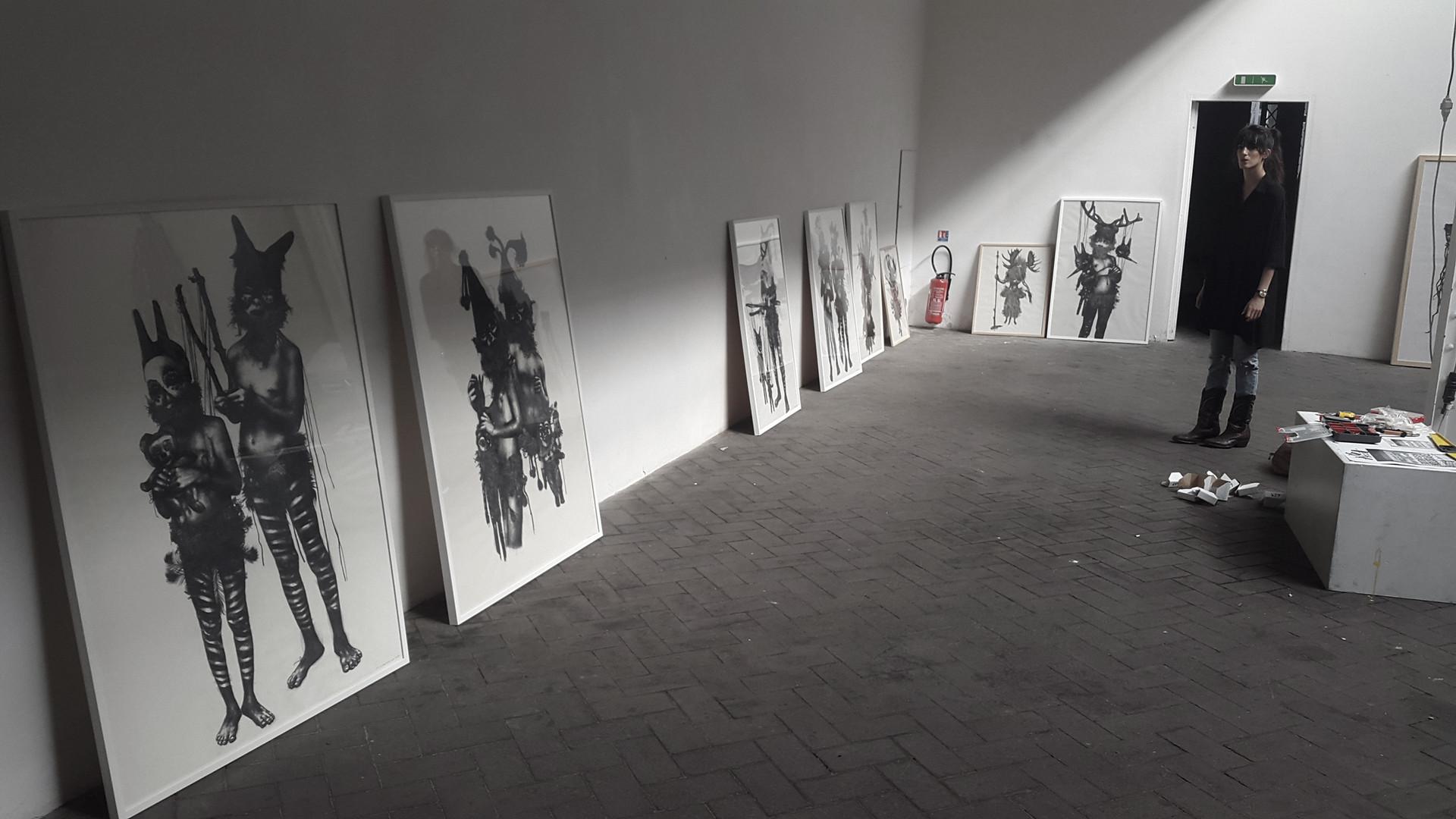 Drawings   Artist in studio   Marie Boralevi