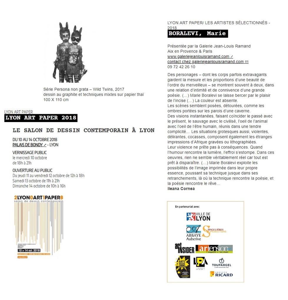 Art Paper Lyon 2018