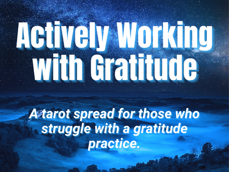 Actively Working with Gratitude