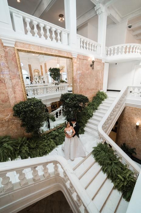 An Elegant All-White Destination Wedding at El Antiguo Casino in San Juan, Puerto Rico