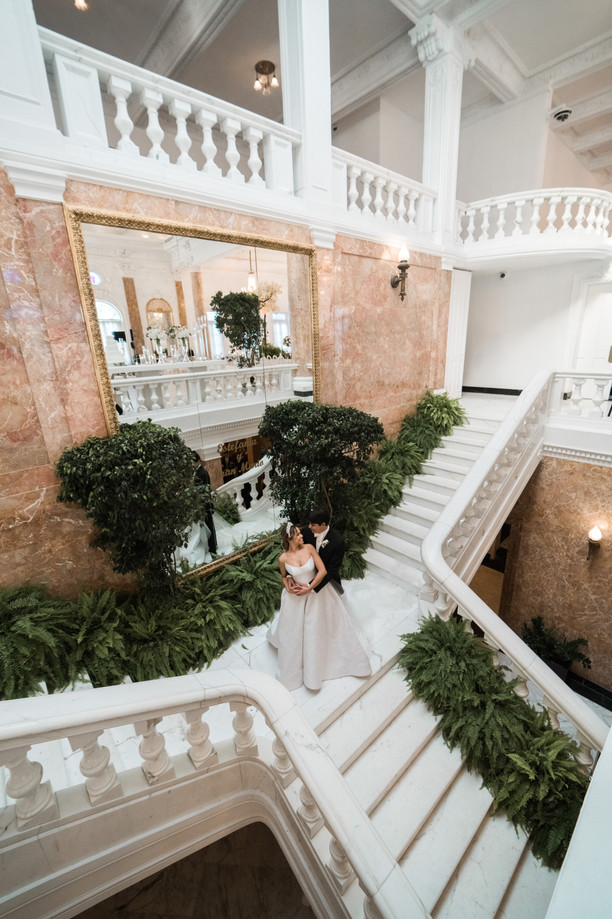 An Elegant All-White Destination Wedding at El Antiguo Casino in San Juan, Puerto Rico