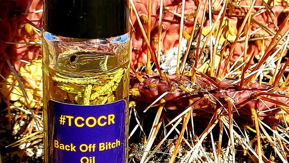 Back Off Bitch Oil