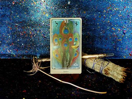We have a stalker (card!) Justice - Haindl Tarot - 12-3-2020