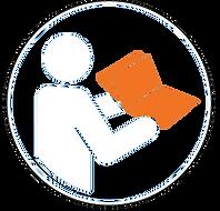 Bediensungsanleitung lesen leer orange.p