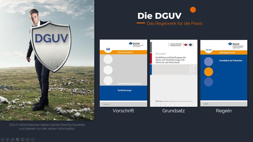 DGUV in der Onlineunterweisung
