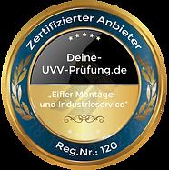 UVV Prüfungen Eifler Montage- und Industrieservice