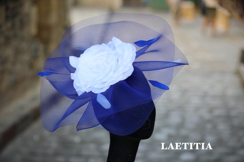 LAETITIA en bleu royal & ivoire