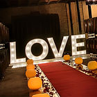Lettres geantes LOVE lumineuss