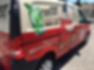 Marquage publicitaire Tapas Café camion