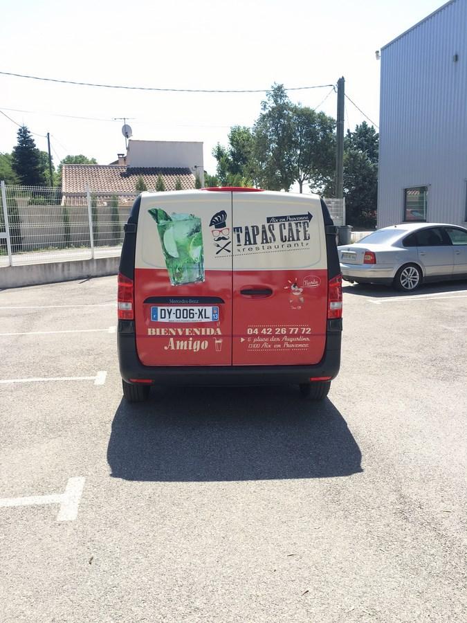 Marquage publicitaire Tapas Café camion  Aix en Provence
