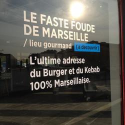Marquage Vitrine restaurant