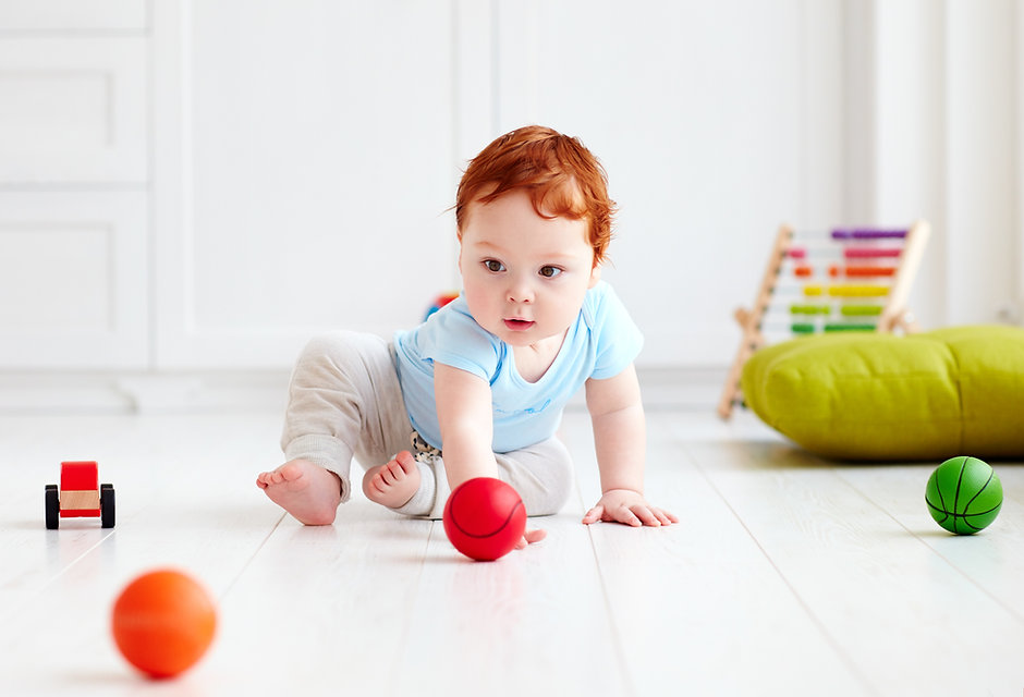 Tête rouge bébé