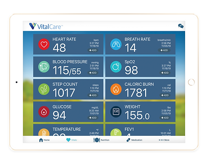 VT - Vital Care ipad - Vitals Screen 72d