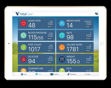 VT - Vital Care ipad - Vitals Screen 72d