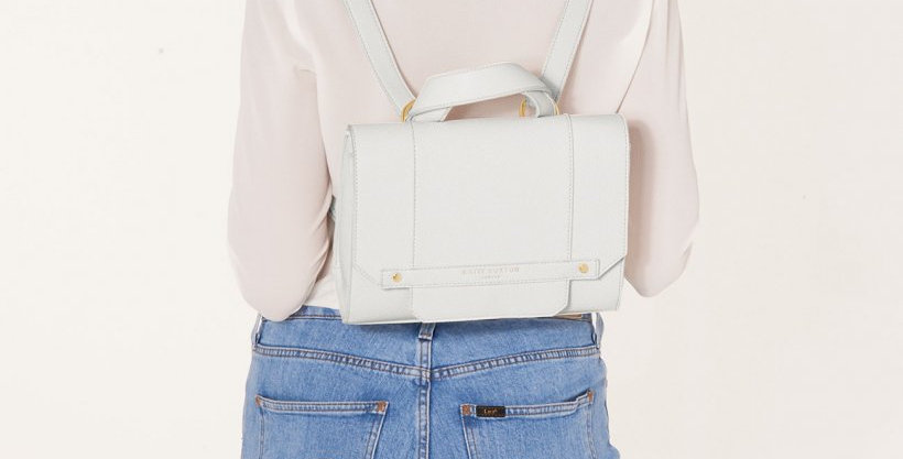 Mila Multi Way Backpack Crossbody Bag - White