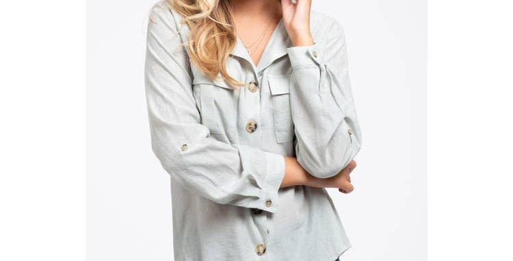 Woven Button Up Top