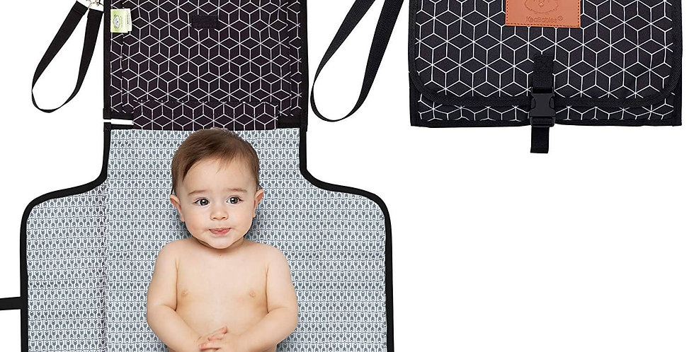 Ezee Diaper Changing Mat - Black Geo