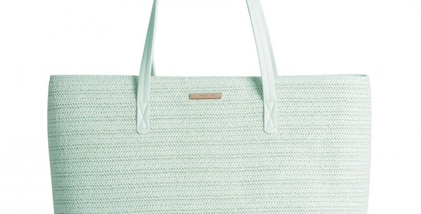 Callie Large Beach Bag - Mint