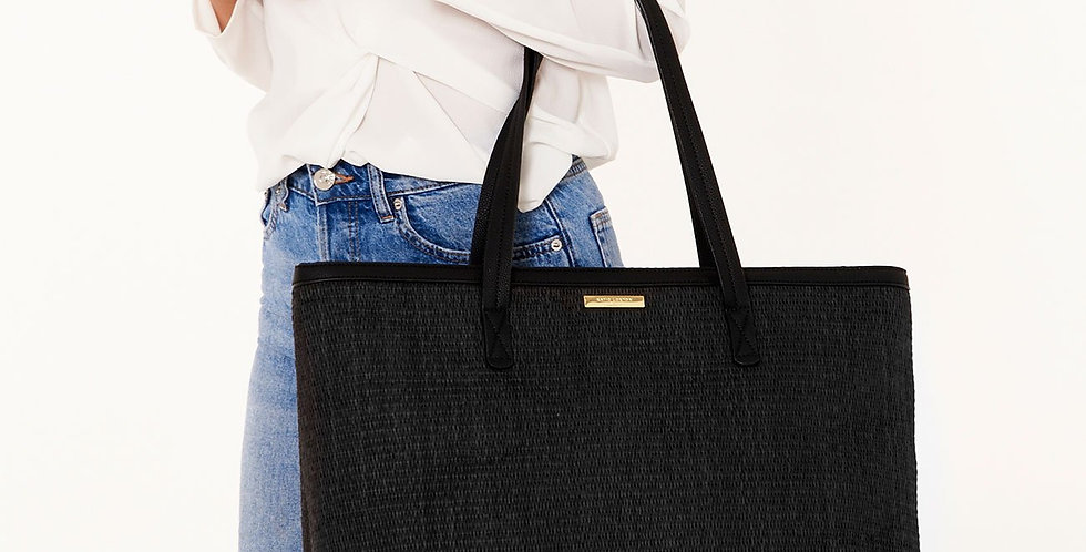 Callie Large Beach Bag - Black