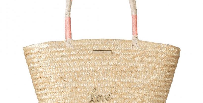 Sofia Straw Basket Bag - Love