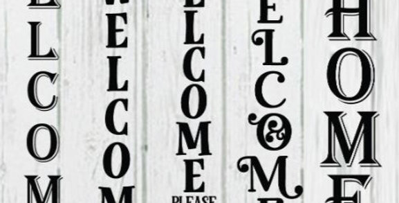 Porch Welcome Sign w/ Fall Options