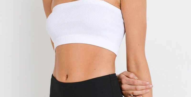 Micro Strap Ribbed Tube Athleisure Top