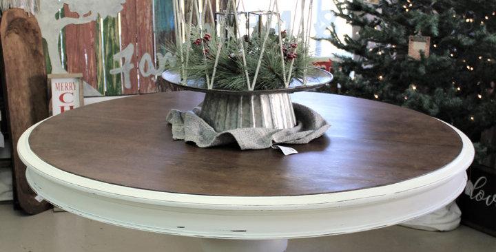 """52"""" Restored Pedestal Table"""