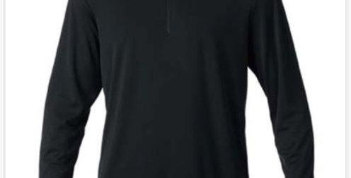 Energy Long Sleeve 1/4 Zip - Black