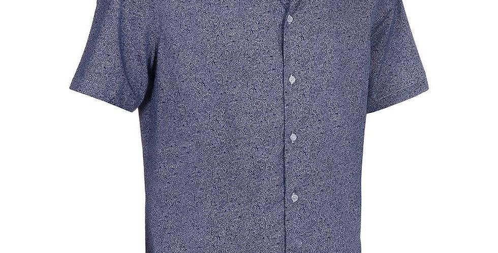 Luau Shirt - Embroidered Indigo
