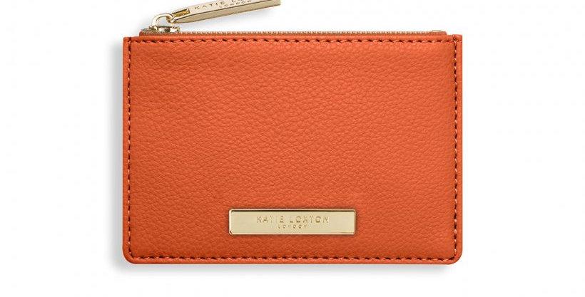 Alise Card Holder - Burnt Orange