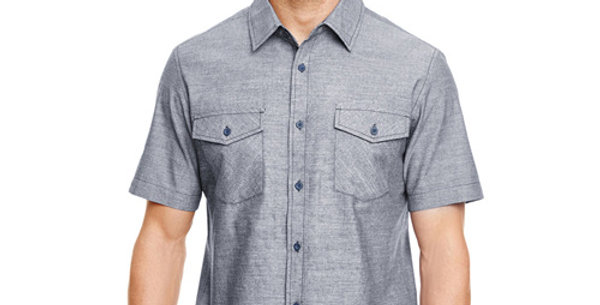 Men's Short Sleeve Chambray - 2 Color Options