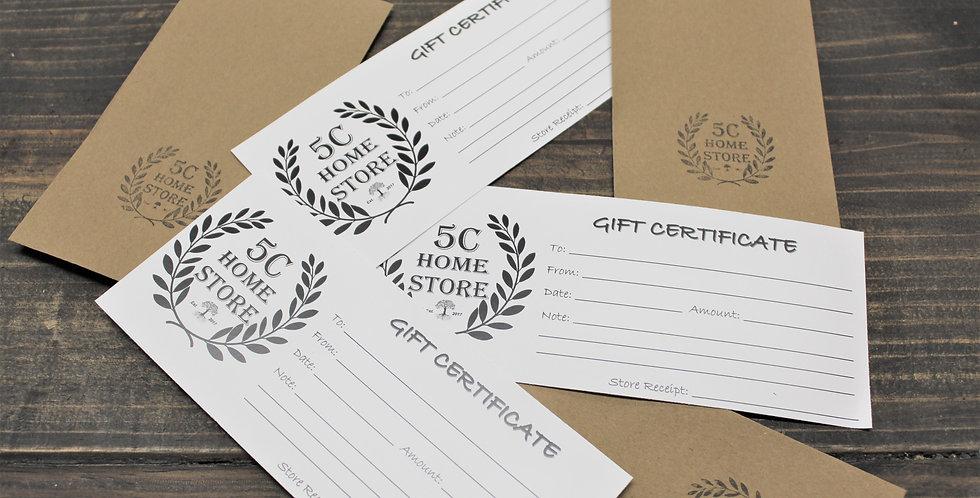 5C Gift Certificate