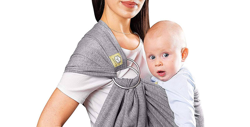 Baby Wrap Carrier & Ring Sling - Classic Gray