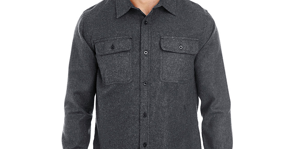 Solid Long Sleeve Flannel - Charcoal