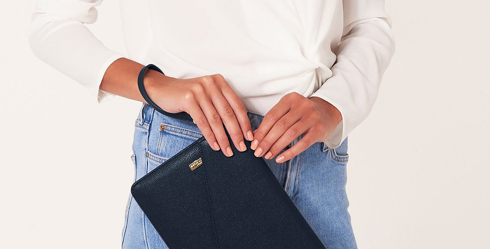 Esme Envelope Clutch - Navy