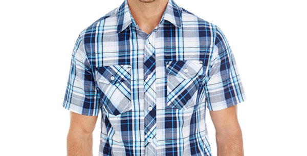 Men's Short Sleeve Plaid