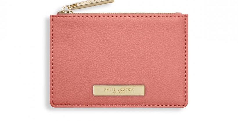 Alise Card Holder - Salmon Pink